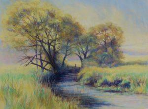Misty Morning Pastel landscape