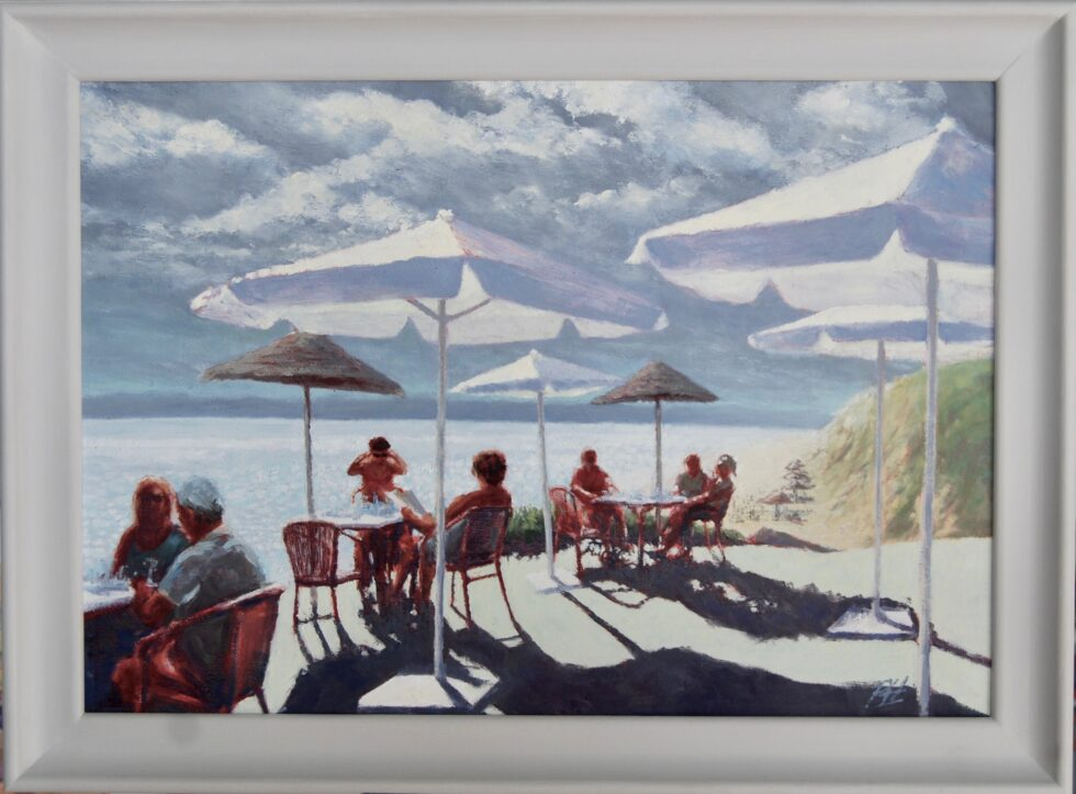 Al Fresco Drinks Oil Painting
