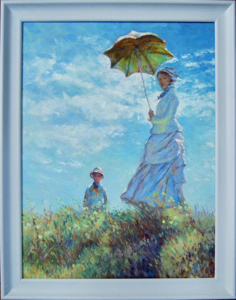 Monet Tribute Oil Painting