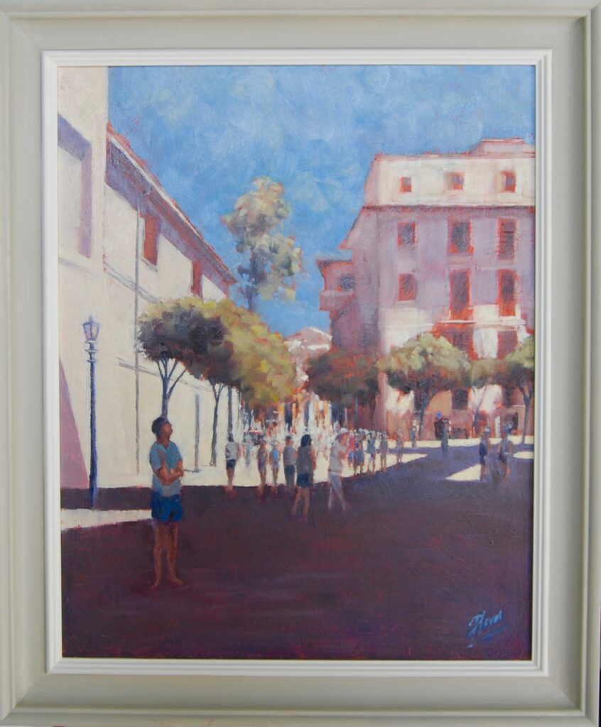 Palma Cathedral Shadow Oil Painting