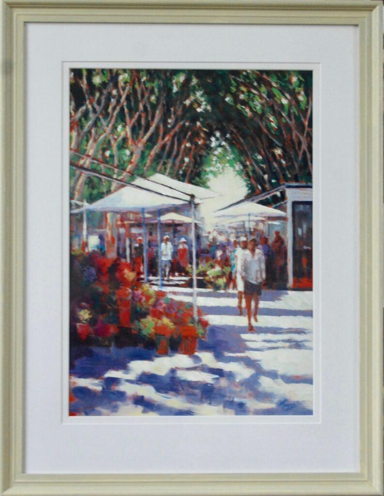 Palma Market Pastel Painting