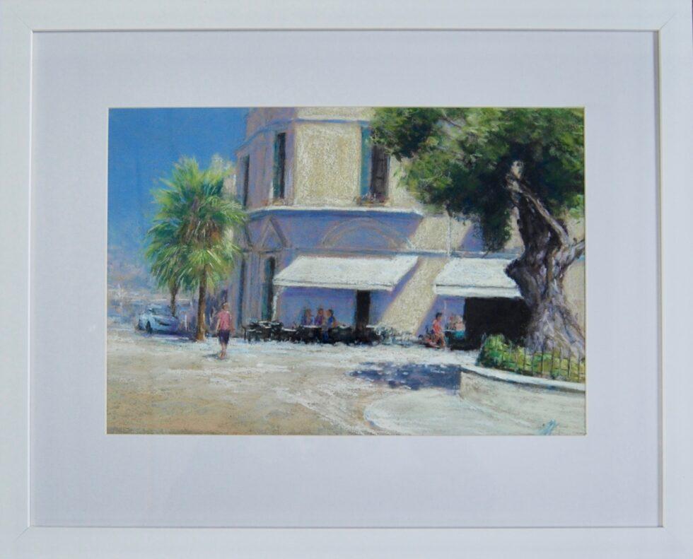 Port Andraux Majorca Pastel Painting