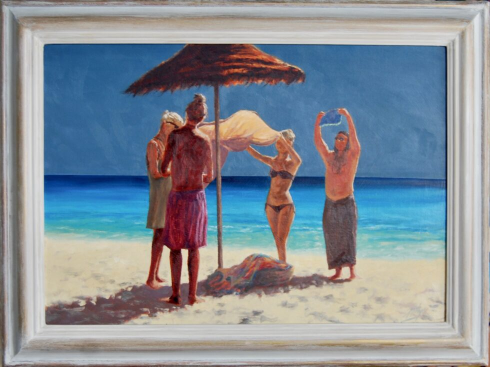Sarong Sellers Oil Painting