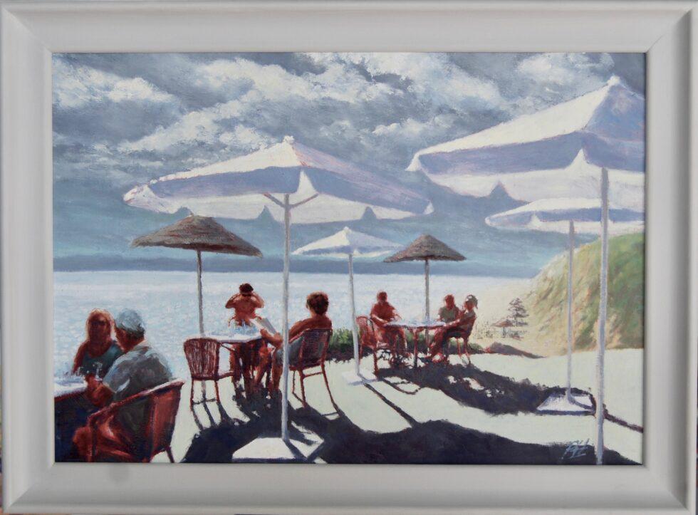Al Fresco Drinks Oil Painting